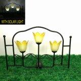 3 Glaskugel-Solarlicht-Metallgarten-Dekoration-Zaun-Fertigkeit