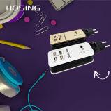 Soquete esperto elétrico de 4 tomadas dos plugues de parede do USB