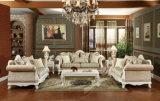 Insieme di legno antico del sofà del tessuto