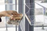Alimentador de pássaros de janela de acrílico ao ar livre claro personalizado