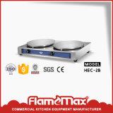 elektrische Pfannkuchen-Hersteller-Maschine des Krepp-1-Head (HEC-1)