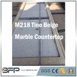 M218 Tino 베이지색 자연적인 대리석 돌 싱크대 또는 벤치 상단 또는 도와