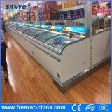 Puerta de vidrio corredera autónoma Congelador de comida congelada