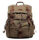 Рюкзак перемещения Bookbag мешка школы кожаный Backpack холстины большой вскользь