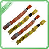 Wristband полиэфира изготовленный на заказ сплетенный тканью на партия/празднество/подарки одна польза времени