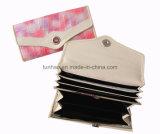 Jogos de couro da carteira das mulheres do plutônio do fechamento instantâneo da aleta com multi tamanhos (Th6006)