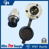2 Pin Matel Conector impermeable para la industria