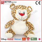 Leopardo suave lindo del animal relleno de los juguetes para el cabrito