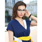 Ningunas mujeres Anti-Azules del marco óptico de los vidrios de la lente de Eyewear de la lente del acetato hecho a mano doble de MOQ