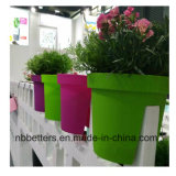 Balkon-Pflanzer-Wholesale Plastikpflanzenpotentiometer und befördern Pflanzer, Plastikpflanzer der Farben-pp. mit der Eisenbahn