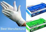 Non-Sterile медицинские перчатки рассмотрения латекса/зубоврачебная перчатка латекса