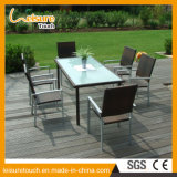 Half Arc Square Tables Outdoor Bistro Furniture Rattan Bar Beer House Chair Conjunto de mesa