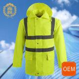 Uniforme reflexivo amarelo da limpeza da segurança do OEM, olá! uniformes novos ao ar livre do metro do estilo do Vis