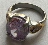 Anello della pietra dell'anello del metallo dell'acciaio inossidabile (SCR2895)