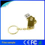 China-Lieferant drehen Edelstahl-Metallgoldschwenker USB-Blitz-Laufwerk