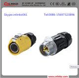 Lp20 impermeabilizan el conector del alambre de 3 Pin/el cable del conector para la lámpara de calle y la iluminación de DMX