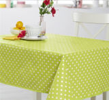 Support de tissu estampé par PVC amical conçu neuf de nappe de configuration