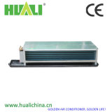 Дактированный тип блок катушки вентилятора потолка воды горизонтальный скрынный с коробкой возвращения воздуха