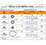 (400PCS) Spessori comuni da registrazione della valvola dell'ugello dell'iniettore della guida di Denso