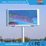 Display de LED de frente e verso P8 ao ar livre para publicidade