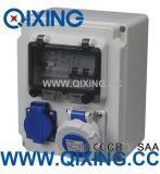 Novo tipo caixa impermeável elétrica quente da ECO do soquete da combinação