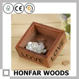 Caja de almacenamiento de madera para joyería o jardinera