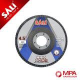 Disco abrasivo con recubrimiento de óxido de aluminio de la solapa de la calidad de alta velocidad