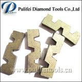 Segmento abrasivo do diamante das ferramentas de estaca da forma de W para a laje do granito