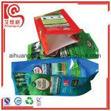 La bolsa de plástico de empaquetado del escudete del fertilizante lateral de la impresión