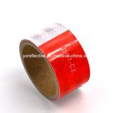 Лента красного & белого стикера тележки отражательная