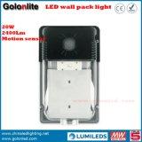 5 años de garantía Wall Paquete de iluminación 120V 277V 230V IP65 lámpara de pared impermeable al aire libre de 20W LED