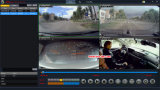 Cartão DVR móvel da alta qualidade H. 264 4CH SD com o GPS/WiFi opcional, e deteção do movimento