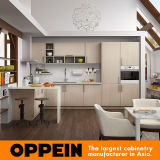 Mobilia a forma di U della cucina del grano di legno chiaro moderno di Oppein (OP16-M07)