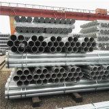 Material de construcción Schedule 40 Tubo de agua galvanizado por inmersión en caliente