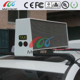Muestra superior de la visualización de LED del taxi para la publicidad al aire libre