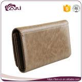 Конструкция способа бумажника, длинняя кожа PU бумажника женщин, бумажник зажима пояса для кредитных карточек