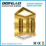 Лифт пассажира с золотистым украшением Ds-J020 вытравливания