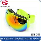 Preiswerte Unisexschnee-Ski-Schutzbrille-Frauen-Männer verdoppeln UVschutz-Zoll-Marken-Ski fahrende Schutzbrillen mit elastischem Band