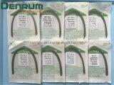 Ce de la fabricación de Denrum, FDA, alambres elásticos estupendos ortodónticos del arco de la ISO Niti