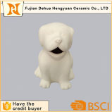 Unpaint Ceramic Animal Figurine Dog Piggy Bank Toy para crianças