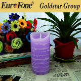 Wtaerline LED Candle Decorative Scented Pillar Cor Velas