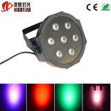 PAR LED plástico de PAR Light / LED PAR de la casa plástica de 7PCS LED / el mejor precio PAR LED de China