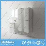 Moderner Fußboden und an der Wand befestigte Badezimmer-Schränke mit 2 seitlichen Geräten (BF379D)