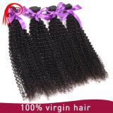 自然で黒いカラーペルーの毛の熱い販売の良質のカーリーヘアーの拡張