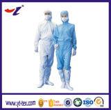 Gebildet vom Streifen-statische Gewebe-blaue Antifarben-langen Kleid