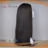 100%年のバージンの毛の絹の上の技術のElsaticの網のWeftedのハイエンド絹の上のかつら(PPG-l-0879)