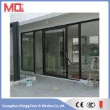 標準サイズのプロフィールのアルミニウムガラスドアデザイン