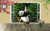 ホーム装飾のためのKongfuのパンダのデジタルによって印刷される油絵
