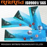 boleto impermeable de la etiqueta engomada RFID del color 13.56MHz