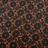 Vestido do Knit do engranzamento da tela do laço do estiramento, tela da venda por atacado da guarnição do laço